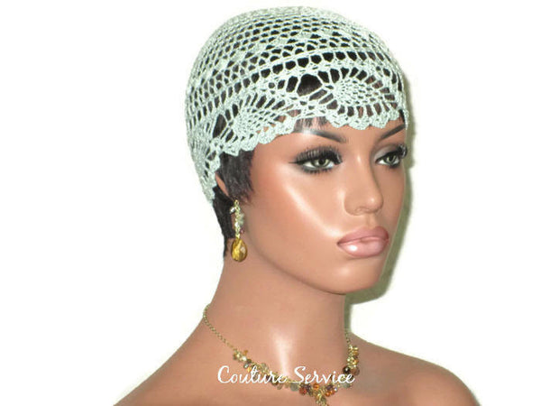 Handmade Green Mint Pineapple Lace Cloche - Couture Service  - 1