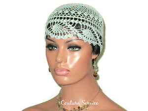 Handmade Green Mint Pineapple Lace Cloche - Couture Service  - 3