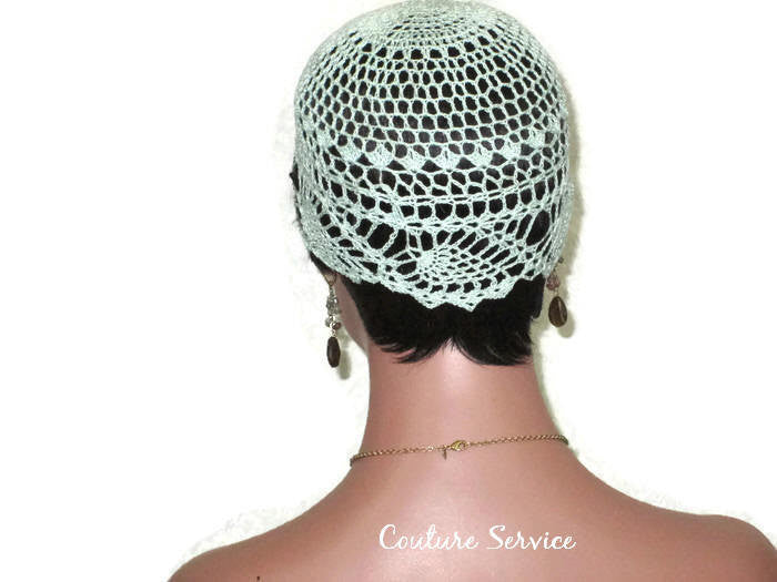 Handmade Green Mint Pineapple Lace Cloche - Couture Service  - 4