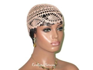 Handmade Peach Pineapple Lace Cloche - Couture Service  - 1