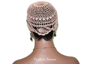 Handmade Peach Pineapple Lace Cloche - Couture Service  - 4