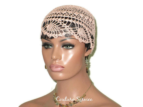 Handmade Peach Pineapple Lace Cloche - Couture Service  - 3