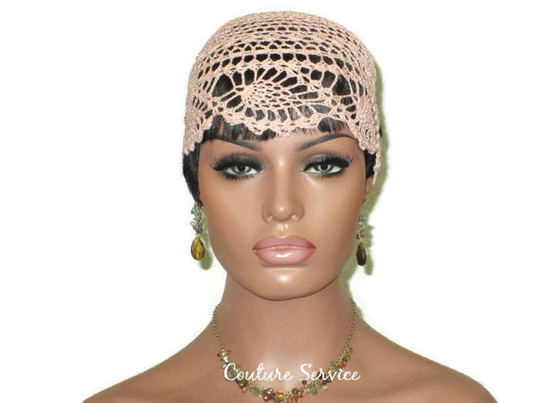 Handmade Peach Pineapple Lace Cloche - Couture Service  - 2