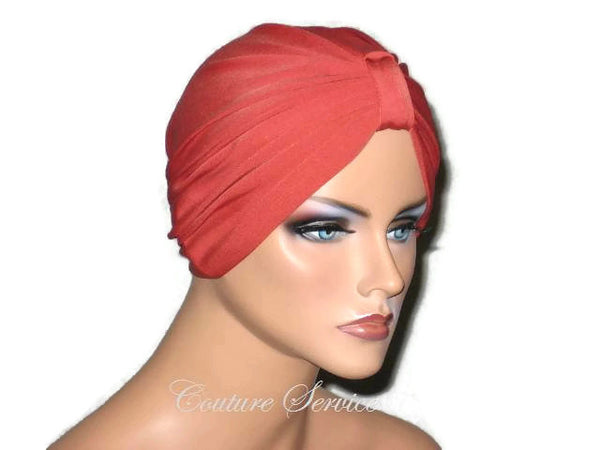 Handmade Orange Chemo Turban,  Burnt Orange - Couture Service  - 2
