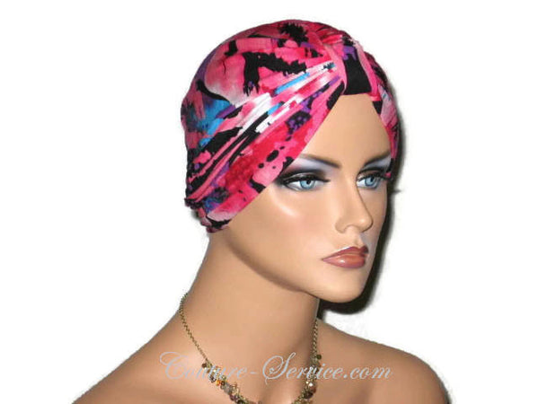 Handmade Pink Chemo Turban, Abstract, Rose - Couture Service  - 2
