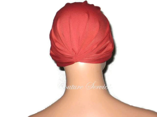 Handmade Orange Chemo Turban,  Burnt Orange - Couture Service  - 3