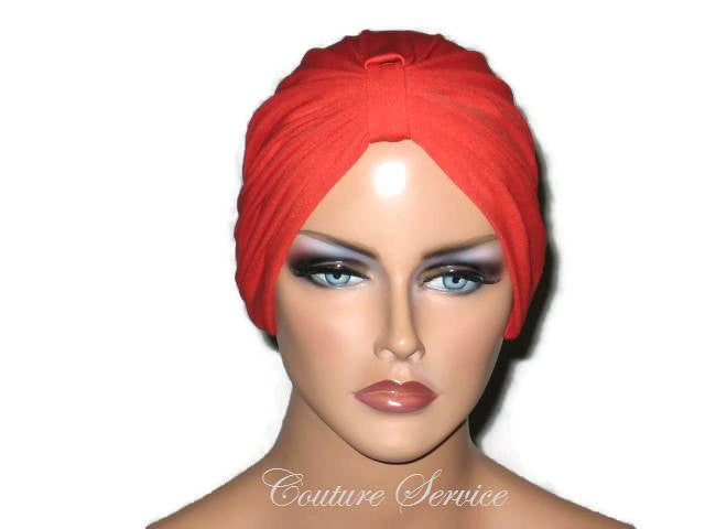 Handmade Orange Chemo Turban - Couture Service  - 1