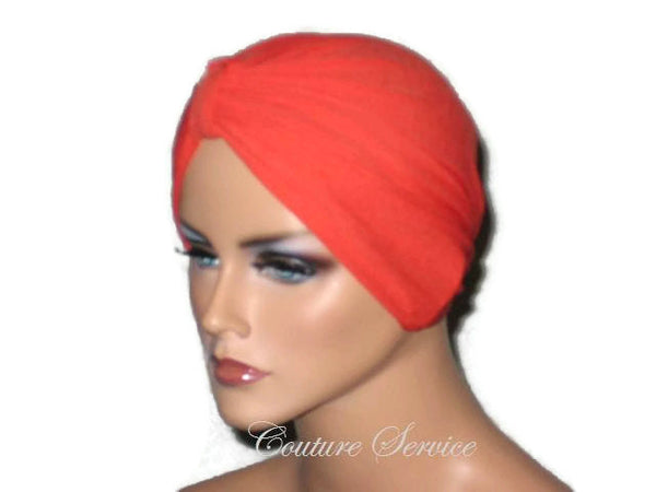 Handmade Orange Chemo Turban - Couture Service  - 2