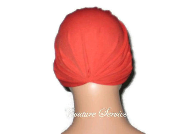 Handmade Orange Chemo Turban - Couture Service  - 3