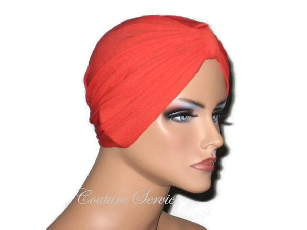 Handmade Orange Chemo Turban - Couture Service  - 4