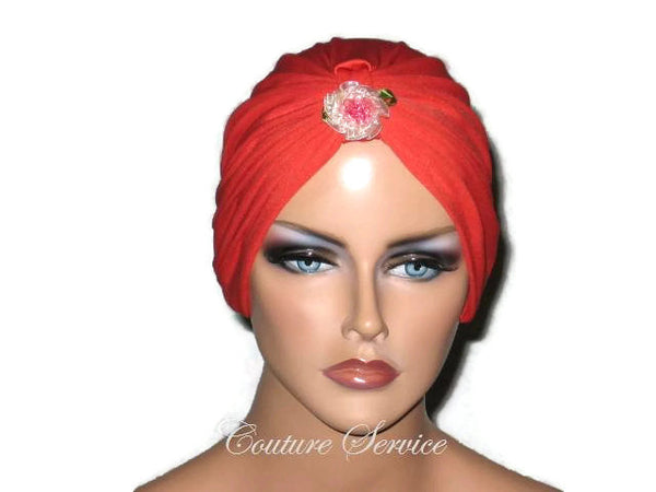 Handmade Orange Chemo Turban - Couture Service  - 5
