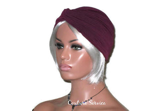 Handmade Plum Twist Turban - Couture Service  - 1