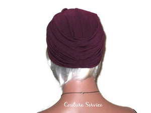 Handmade Plum Twist Turban - Couture Service  - 4