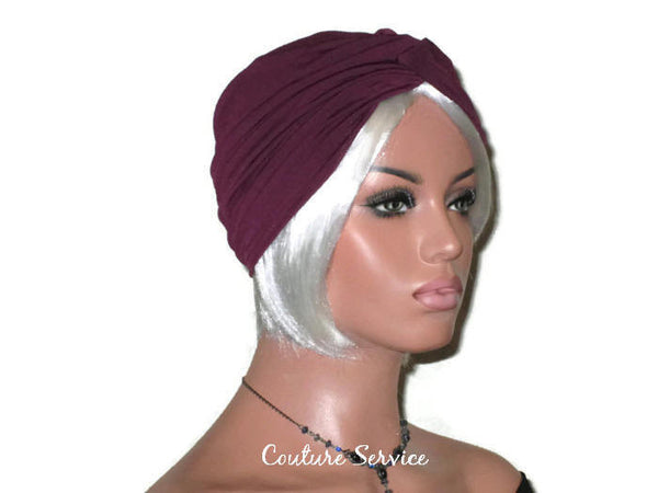 Handmade Plum Twist Turban - Couture Service  - 3