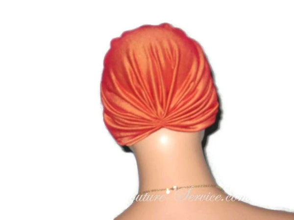 Handmade Orange Chemo Turban, Iridescent - Couture Service  - 3