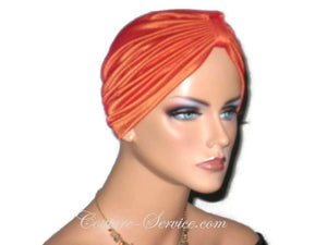 Handmade Orange Chemo Turban, Iridescent - Couture Service  - 2