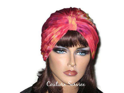Handmade Red Single Knot Turban, Tie Dye - Couture Service  - 1