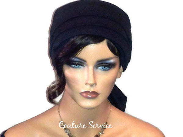 Handmade Black Turban Hat, Lined, Wrapped - Couture Service  - 1