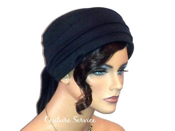 Handmade Black Turban Hat, Lined, Wrapped - Couture Service  - 4