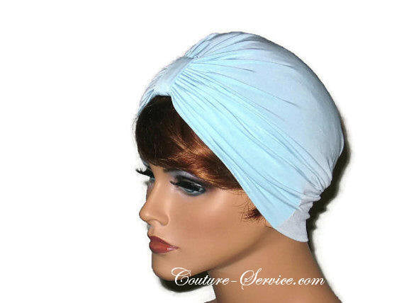 Handmade Blue Single Knot Turban, Powder - Couture Service  - 2