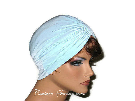 Handmade Blue Single Knot Turban, Powder - Couture Service  - 4