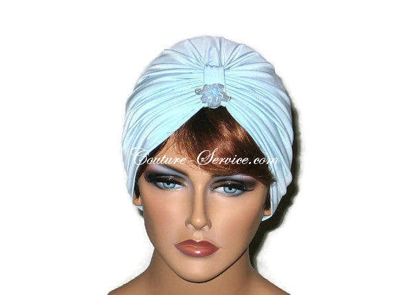 Handmade Blue Single Knot Turban, Powder - Couture Service  - 5