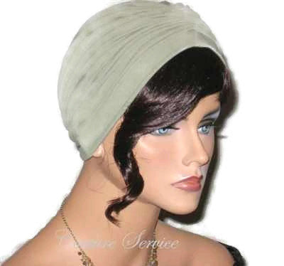 Handmade Green Center Shirred Turban, Sage - Couture Service  - 2