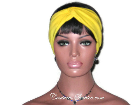 Handmade Yellow Bandeau Headband Turban - Couture Service  - 1