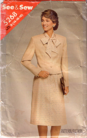 Vintage Butterick 5268, Misses Jacket, Dress, Size 14, 16, 18 - Couture Service  - 1