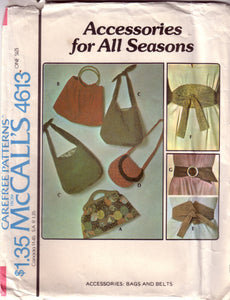 Vintage McCalls Accessories 4613,  Handbags, Purses, Belts - Couture Service  - 1