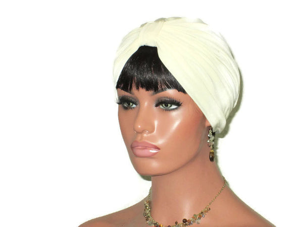 Handmade Cream Double Knot Turban - Couture Service  - 1