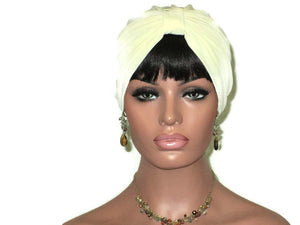 Handmade Cream Double Knot Turban - Couture Service  - 2
