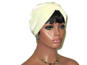 Handmade Cream Double Knot Turban - Couture Service  - 3