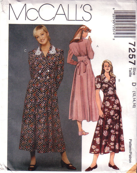 Vintage McCall's 7257, Misses Flared Dress, Size 12, 14, 16 - Couture Service  - 1