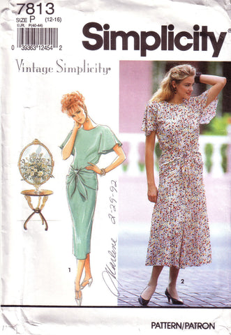 Vintage Simplicity 7813, Misses Dress, Size 12, 14, 16 - Couture Service  - 1