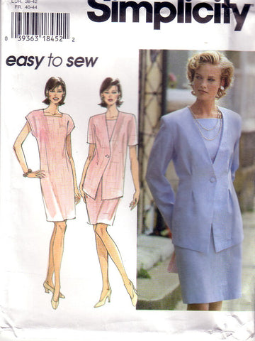 Vintage Simplicity 9899, Misses, Dress, Jacket, Size 12, 14, 16 - Couture Service  - 1