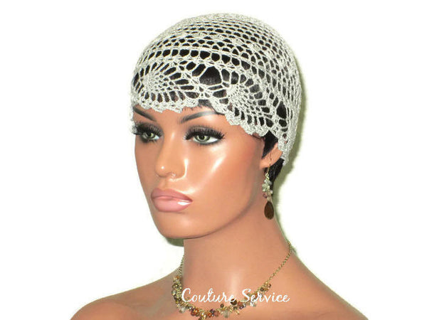Handmade Grey Cloud Pineapple Lace Cloche - Couture Service  - 1