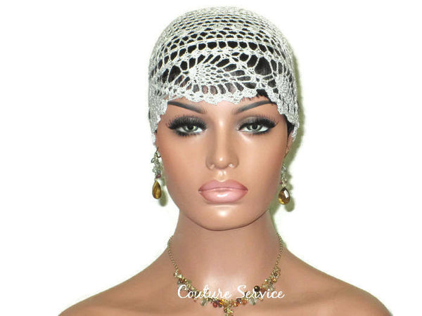 Handmade Grey Cloud Pineapple Lace Cloche - Couture Service  - 2
