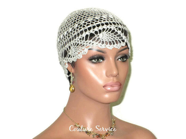 Handmade Grey Cloud Pineapple Lace Cloche - Couture Service  - 3