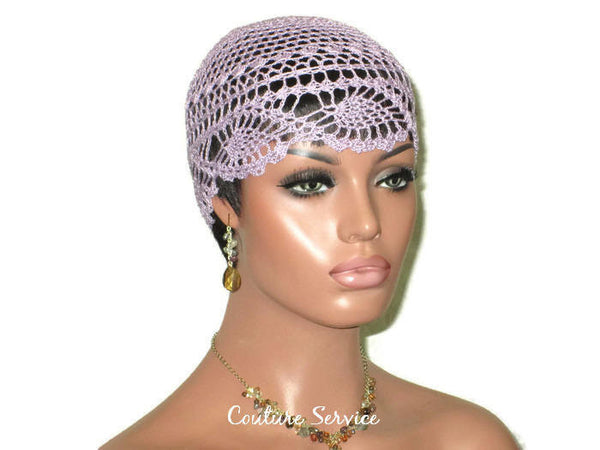 Handmade Purple Pineapple Lace Cloche, Orchid - Couture Service  - 3