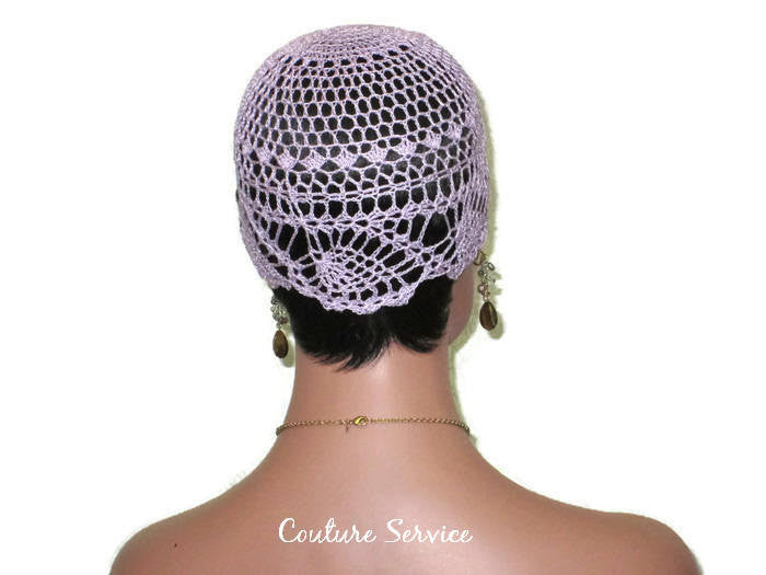 Handmade Purple Pineapple Lace Cloche, Orchid - Couture Service  - 4