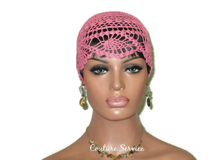Handmade Pink Pineapple Lace Cloche, Tropical - Couture Service  - 2