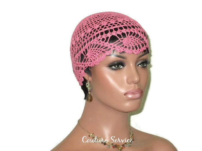 Handmade Pink Pineapple Lace Cloche, Tropical - Couture Service  - 3