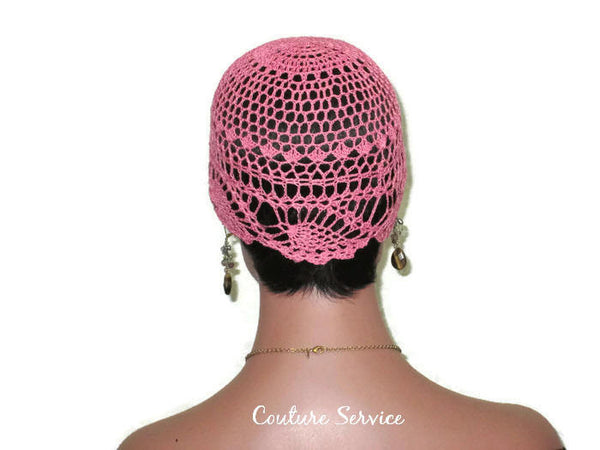 Handmade Pink Pineapple Lace Cloche, Tropical - Couture Service  - 4