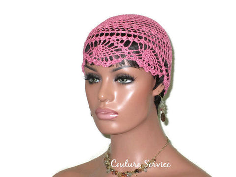 Handmade Pink Pineapple Lace Cloche, Tropical - Couture Service  - 1