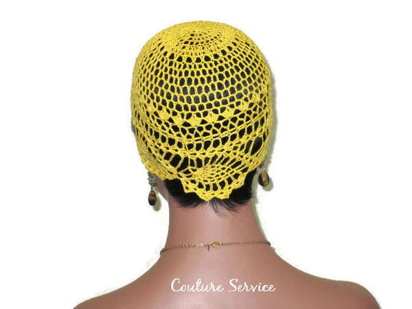 Handmade Yellow Pineapple Lace Cloche, Golden - Couture Service  - 4
