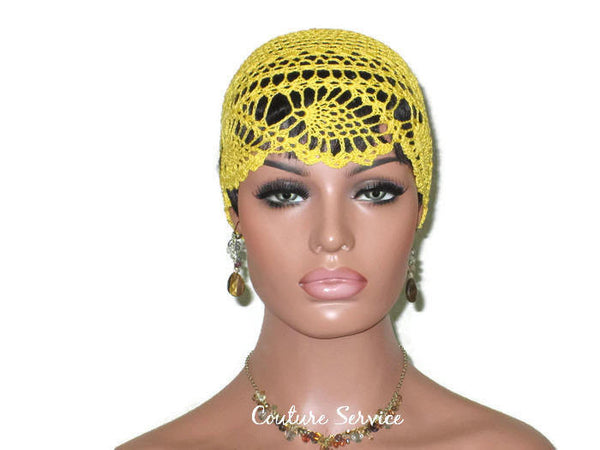 Handmade Yellow Pineapple Lace Cloche, Golden - Couture Service  - 2