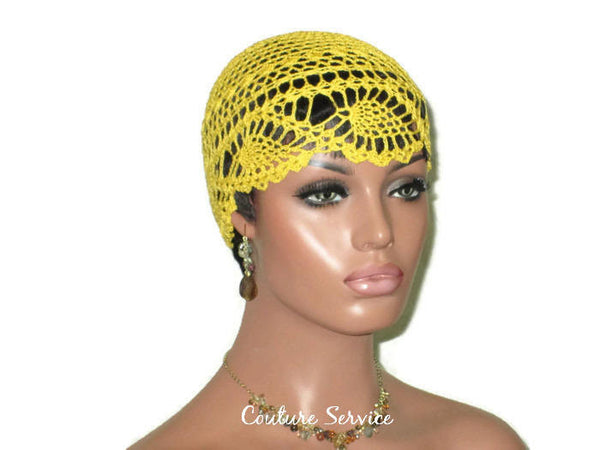 Handmade Yellow Pineapple Lace Cloche, Golden - Couture Service  - 3