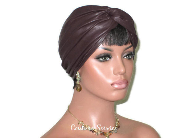 Handmade Leather Turban, Plum - Couture Service  - 1