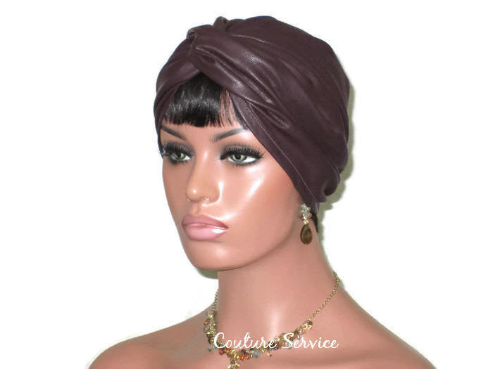 Handmade Leather Turban, Plum - Couture Service  - 3